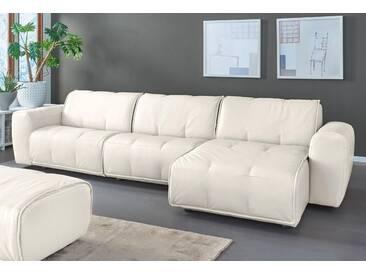 Natuzzi Sitzecke »Alessio«, weiß, Recamiere rechts, B/H/T: 336x43x67cm, hoher Sitzkomfort