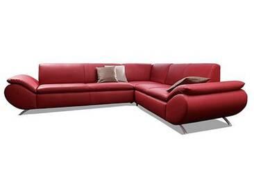 Max Winzer® Ecksofa »Marbella«, rot, Langer Schenkel links, B/H/T: 271x42x56cm, hoher Sitzkomfort