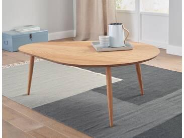 Andas Couchtisch », in eleganter Segelform, aus massiven Tischbeinen«, braun, pflegeleichte Oberfläche, FSC®-zertifiziert