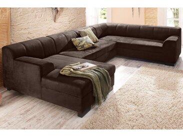 Home Affaire Wohnlandschaft »Falk« ohne Schlaffunktion, braun, B/H/T: 320x42x42cm, hoher Sitzkomfort