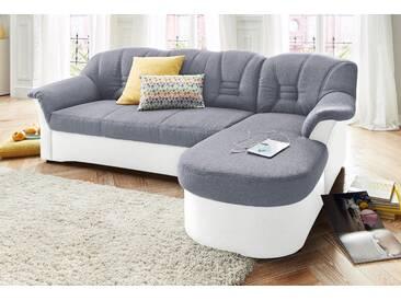 Domo Collection Polstergarnitur mit Bettfunktion, weiß, B/H/T: 240x40x50cm, hoher Sitzkomfort