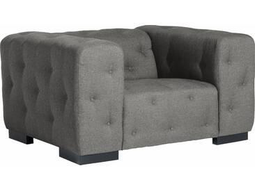 Max Winzer®  Sessel  mit Knopfheftung »York«, grau, B/H/T: 130x41x62cm, hoher Sitzkomfort