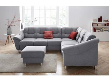 Sit&more Ecksofa mit Schlaffunktion, grau, komfortabler Federkern