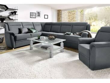 Sit&more Ecksofa, grau, B/T: 294x53cm, hoher Sitzkomfort