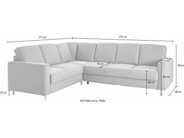 Trendmanufaktur  Eck-Couch ohne Schlaffunktion