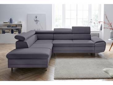 Sit&more Eckcouch mit Schlaffunktion, grau, hoher Sitzkomfort