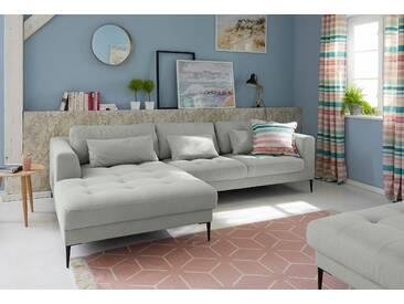 Guido Maria Kretschmer Home&living Ecksofa »Pyrus«, grau, Recamiere links, B/H/T: 280x42x44cm, hoher Sitzkomfort