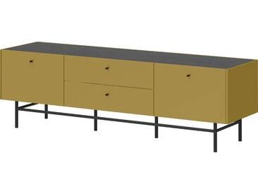 Schöner Wohnen-kollektion Lowboard »Monteo«, gelb, pflegeleichte Oberfläche, mit Schubkästen