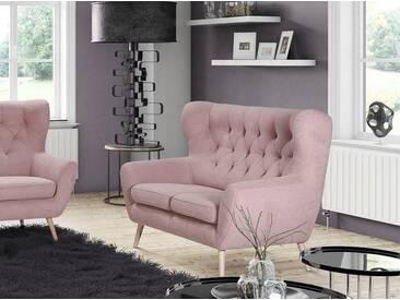 Home Affaire 2-Sitzer »VOSS«, rose, B/H/T: 137x47x53cm, hoher Sitzkomfort