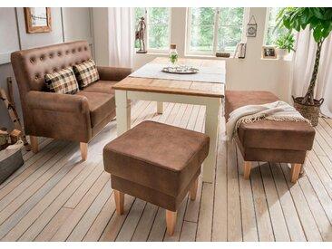 Home Affaire Küchensofa »Scalea«, braun, Inkl. Zierkissen, komfortabler Federkern