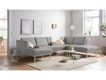 Andas Wohnlandschaft »Christian«, grau, Inkl. Rückenkissen, hoher Sitzkomfort, FSC®-zertifiziert