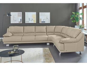 Natuzzi Polsterecke »Raniero«, grau, Langer Schenkel links, B/H/T: 328x45x68cm, hoher Sitzkomfort