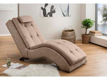 Home Affaire Relaxliege »Vengo«, beige, hoher Sitzkomfort, FSC®-zertifiziert