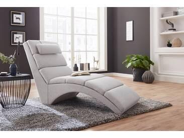 Atlantic Home Collection Relaxliege, grau, B/H: 64x41cm, hoher Sitzkomfort