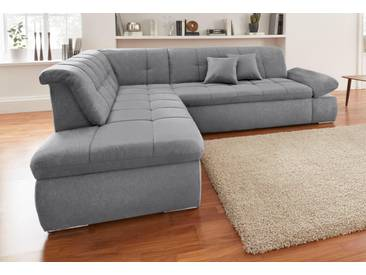 Domo Collection  Ecksofa, grau