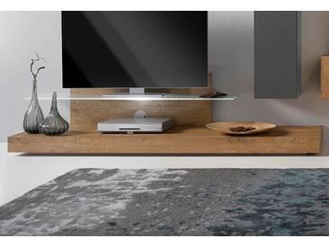 Lc  TV-Podest mit Glasboden, beige, pflegeleichte Oberfläche