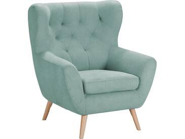 Home Affaire  Sessel  mit moderner Knopfheftung »VOSS«, mint, B/H/T: 87x47x53cm, hoher Sitzkomfort