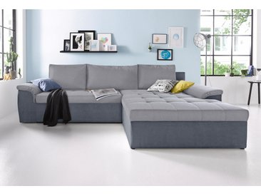 Sit&more Eck-Couch mit Bettfunktion, grau, hoher Sitzkomfort