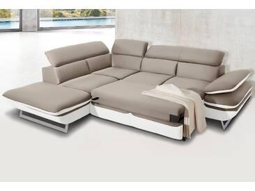 Inosign Ecksofa mit Bettfunktion, weiß, B/H/T: 265x45x60cm, hoher Sitzkomfort