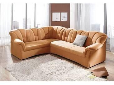 Domo Collection Polstergarnitur, orange, Langer Schenkel rechts, B/H/T: 242x41x51cm, hoher Sitzkomfort