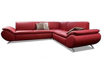Max Winzer® Ecksofa »Marbella«, rot, B/H/T: 237x42x56cm, hoher Sitzkomfort