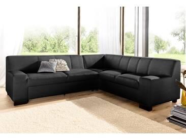 Domo Collection Ecksofa ohne Schlaffunktion, schwarz, B/H/T: 247x43x59cm, hoher Sitzkomfort