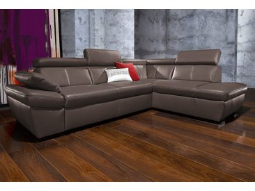 Exxpo - Sofa Fashion Eck-Sofa mit Bettfunktion, braun, FSC®-zertifiziert