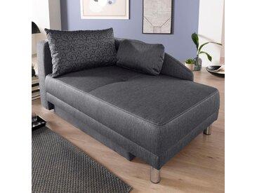 Jockenhöfer Gruppe  Chaiselongue, grau, komfortabler Federkern, hoher Sitzkomfort, FSC®-zertifiziert