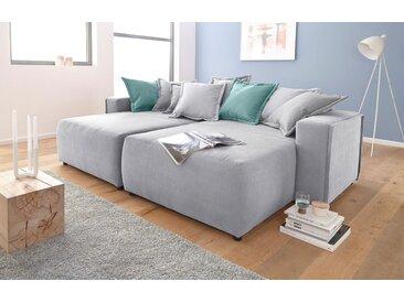 Inosign Couch »Gina«, grau, B/H/T: 252x43x122cm, hoher Sitzkomfort, FSC®-zertifiziert