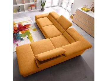 Sit&more Ecksofa, Ottomane rechts, gelb, B/H/T: 274x41x60cm, hoher Sitzkomfort