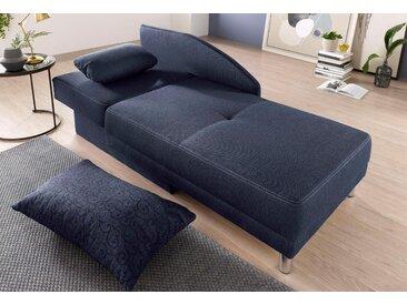 Jockenhöfer Gruppe  Chaiselongue, blau, komfortabler Federkern, hoher Sitzkomfort, FSC®-zertifiziert