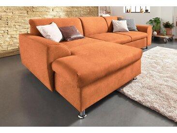Domo Collection Ecksofa mit Schlaffunktion, orange