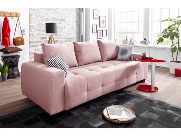 Collection Ab Schlafsofa mit Bettfunktion und Bettkasten, rosa, B/H/T: 241x45x60cm, hoher Sitzkomfort