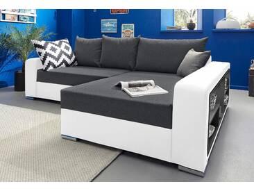 Collection Ab Ecksofa mit Schlaffunktion, weiß, B/H/T: 252x41x53cm, hoher Sitzkomfort
