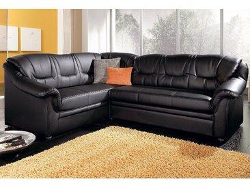Domo Collection Eck-Couch mit Bettfunktion, schwarz, B/H/T: 234x40x51cm, hoher Sitzkomfort, FSC®-zertifiziert