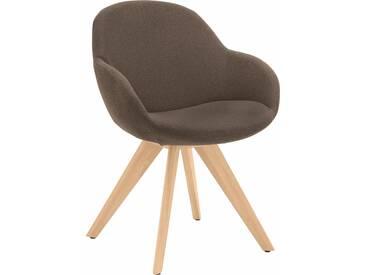 Niehoff Sitzmöbel Schalen-Sessel »Coppa«, braun, hoher Sitzkomfort