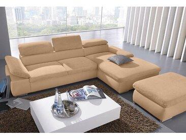 Sit&more Eck-Couch mit Bettfunktion, braun