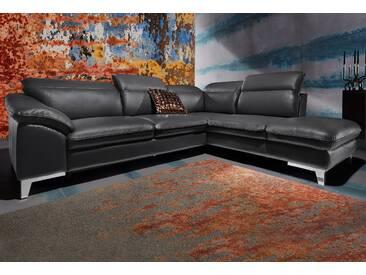 Cotta Polstergarnitur mit Schlaffunktion, schwarz, B/H/T: 293x46x61cm, hoher Sitzkomfort