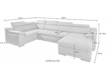 Sit&more Wohn-Landschaft ohne Bettfunktion, blau, FSC®-zertifiziert