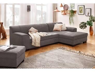 Home Affaire Ecksofa »Wanda«, grau, Recamiere rechts, B/H: 273x41cm, hoher Sitzkomfort