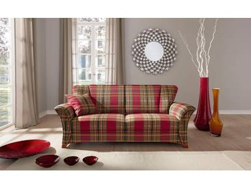 Frommholz® Couch »Verona«, rot, hoher Sitzkomfort