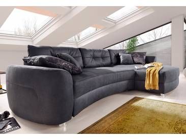 Cnouch Ecksofa mit Schlaffunktion und Bettkasten, grau, B/H/T: 323x47x66cm, hoher Sitzkomfort
