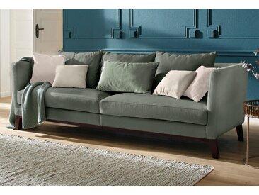 Home Affaire Bigsofa »Kim«, grün, Samtstoff, Inkl. Zierkissen, FSC®-zertifiziert