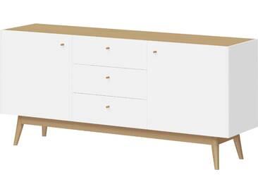Schöner Wohnen-kollektion Sideboard »Monteo«, weiß, pflegeleichte Oberfläche, mit Schubkästen