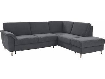 Sit&more Ecksofa, grau, komfortabler Federkern