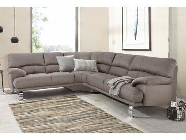 Trendmanufaktur Ecksofa, braun, hoher Sitzkomfort, FSC®-zertifiziert