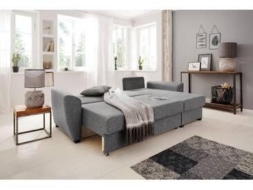 Home Affaire Ecksofa »Quin«, grau, komfortabler Federkern