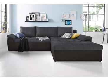 Sit&more Ecksofa ohne Bettfunktion, schwarz, hoher Sitzkomfort