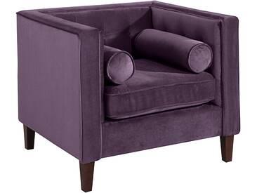 Max Winzer® Sessel »Joko«, lila, T: 60cm, hoher Sitzkomfort