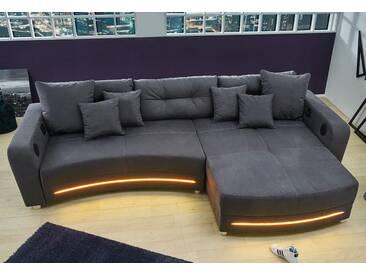 Cnouch Ecksofa, grau, B/H/T: 322x45x63cm, hoher Sitzkomfort, A